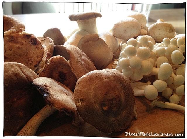 mixed-mushrooms-vegan-risotto