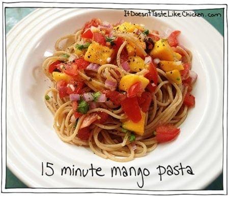 15 Minute Mango Pasta