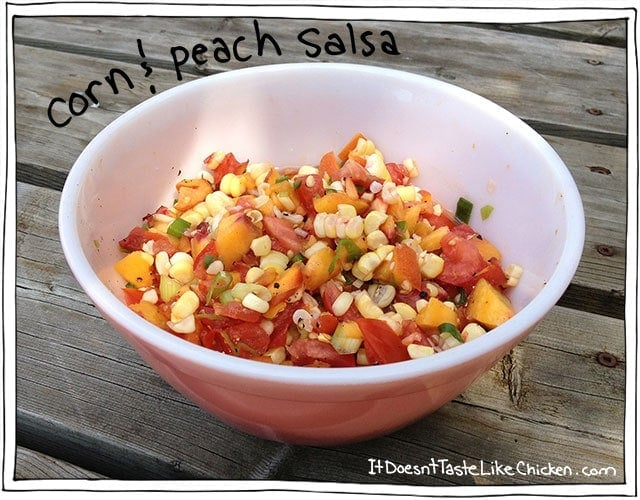 Corn & Peach Salsa