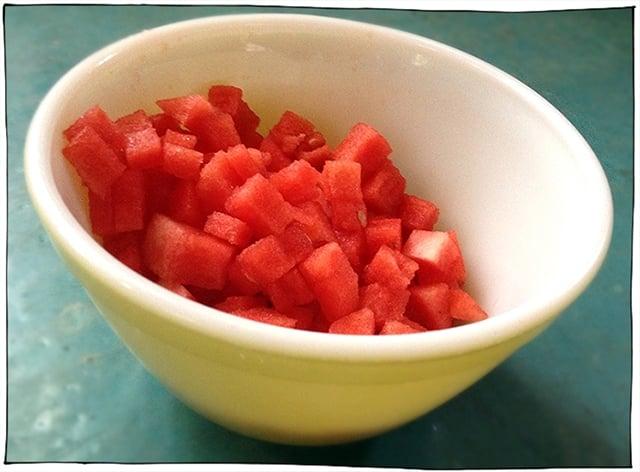 watermelon chopped