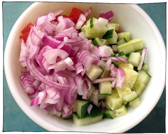 watermelon cucumber onion