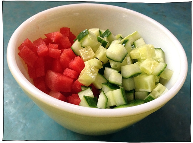 watermelon cucumber