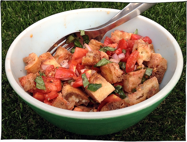vegan tomato bread salad