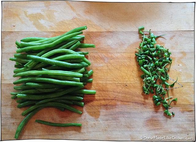 chop-green-beans