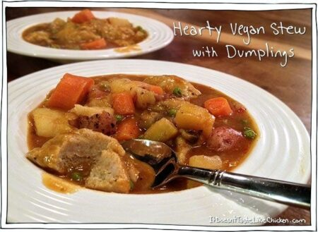 Hearty Vegan Stew with Dumplings
