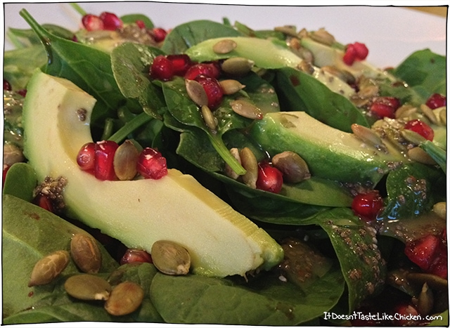 salad with chia lime dressing
