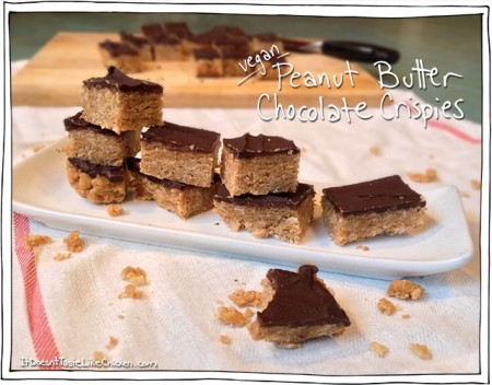 Vegan Peanut Butter Chocolate Crispies