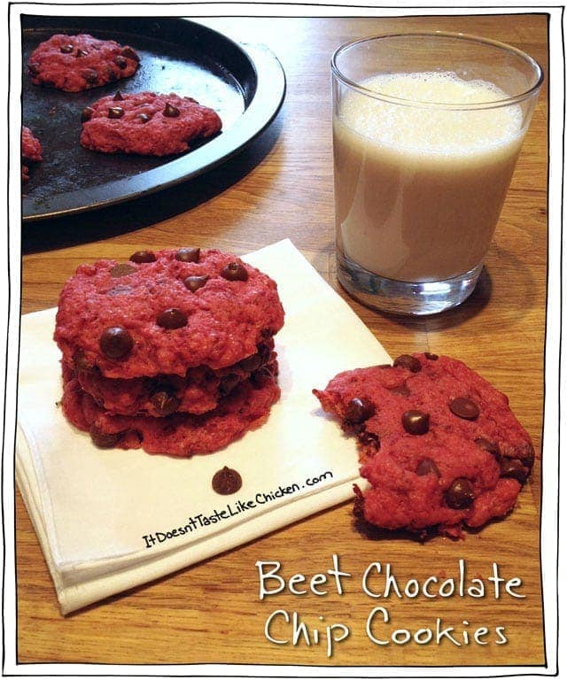 Beet Chocolate Chip Cookies