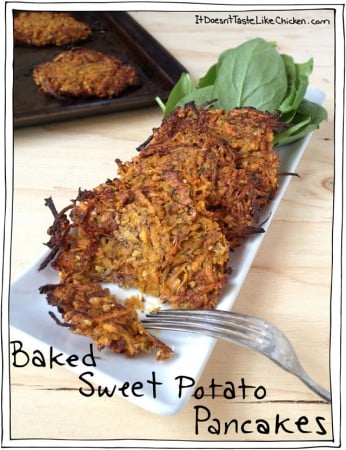Baked Sweet Potato Pancakes