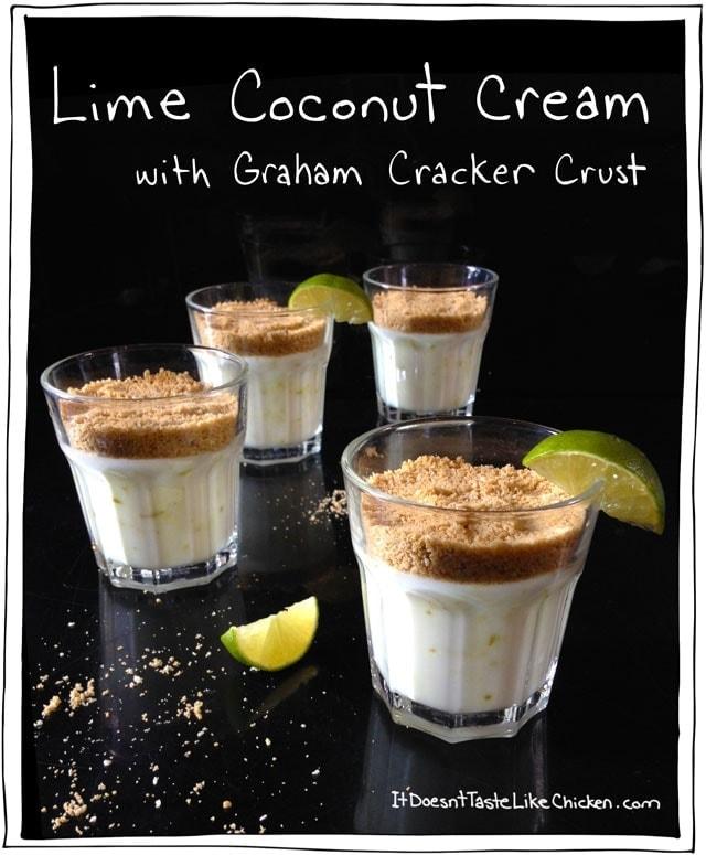Lime Coconut Custard with Graham Cracker Crust