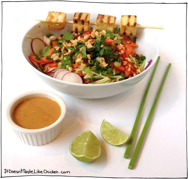 Peanut-Butter-Thai-Salad-Grilled-Tofu