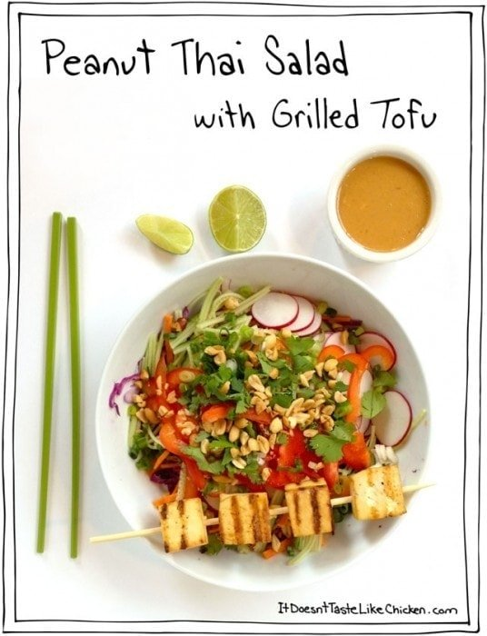 Peanut-Thai-Peanut-Salad-with-Grilled-Tofu