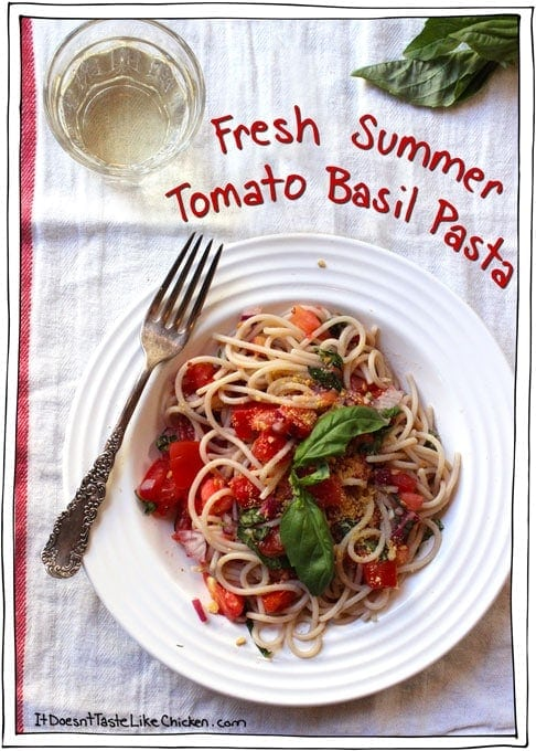 Fresh Summer Tomato Basil Pasta