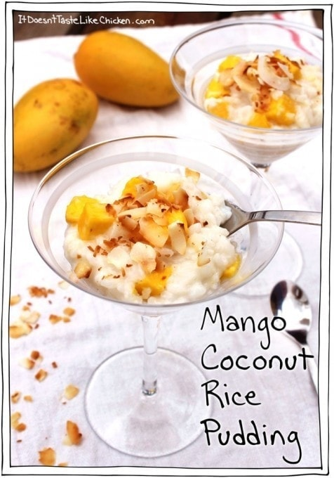 Mango Coconut Rice Pudding - Vegan Dessert Recipes