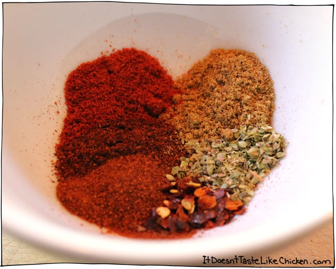 Start by measuring your spices into a bowl. I like to do this first so ...