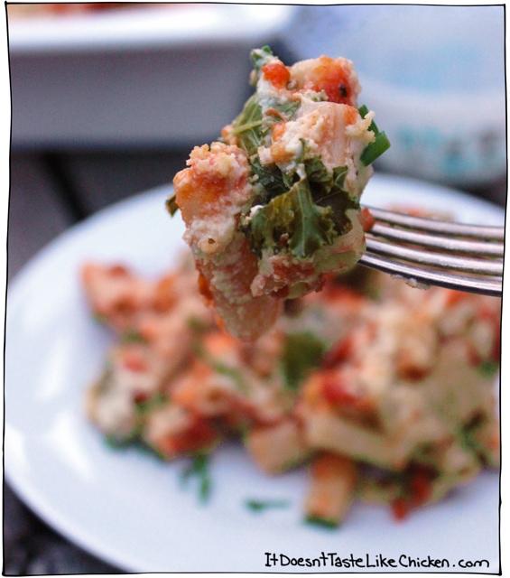 kale-pasta-bake-vegan