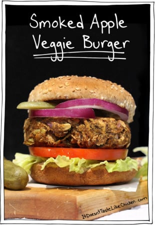 Smoked Apple Veggie Burger