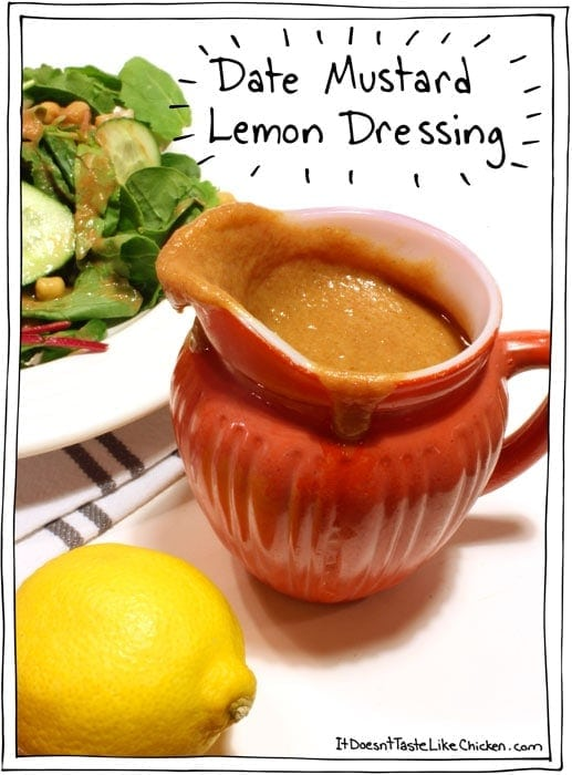 Date Mustard Lemon Dressing
