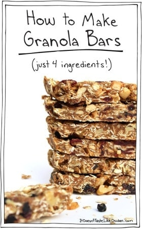 How to Make Granola Bars (Just 4 Ingredients!)
