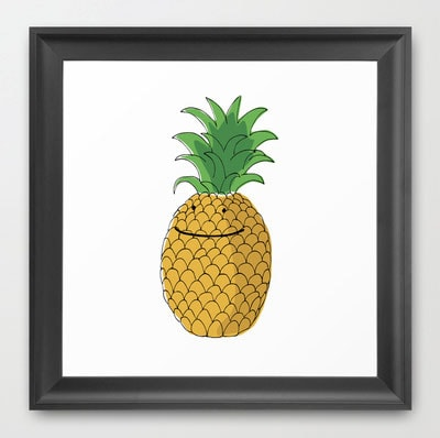 pineapple-art-print