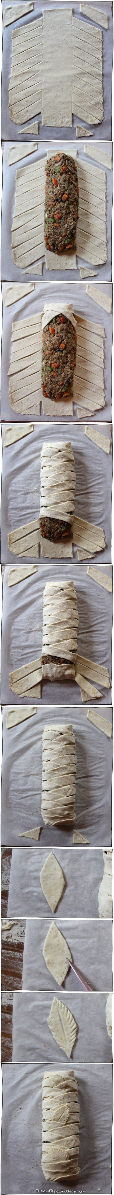 wrap-vegan-lentil-loaf-in-puff-pastry