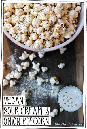 Vegan Sour Cream & Onion Popcorn