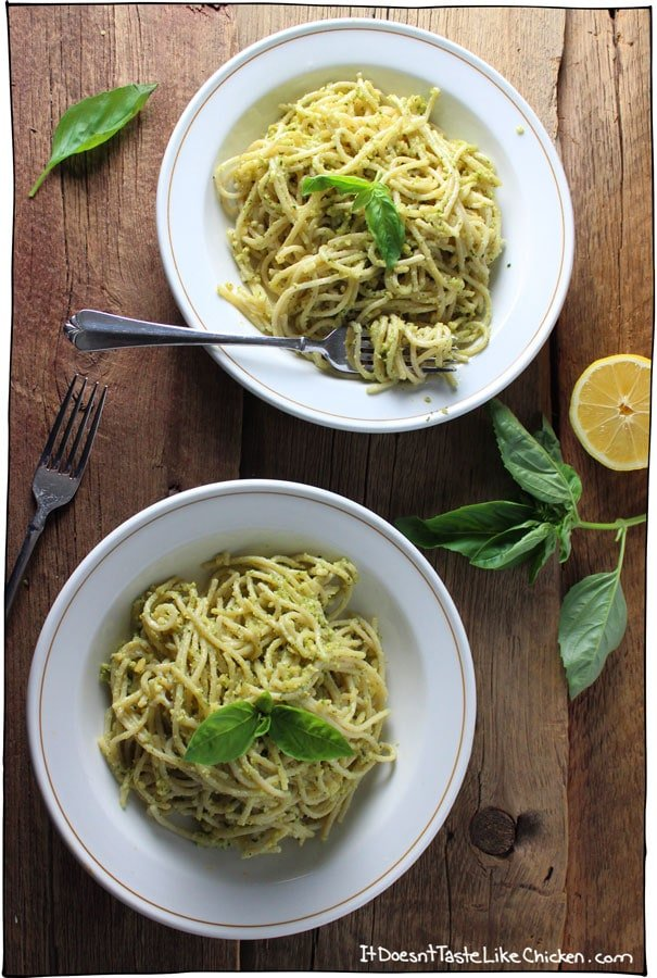 Cashew-pesto-pasta
