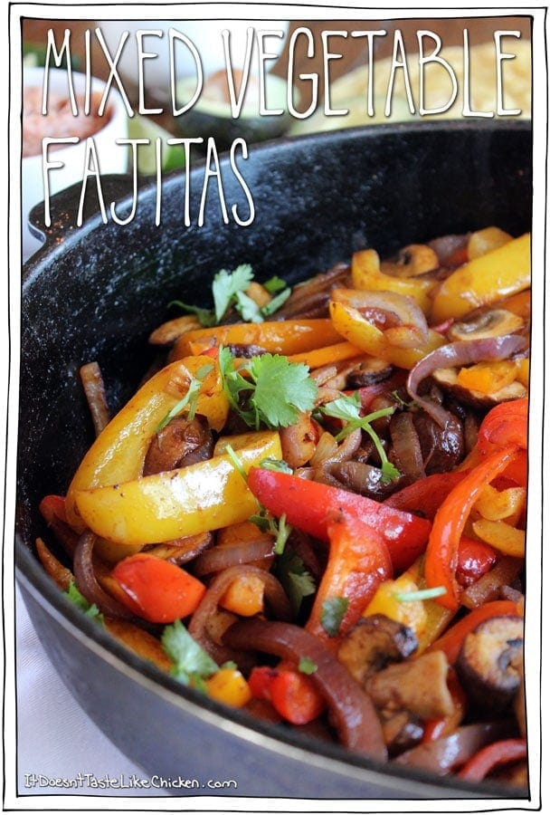 Mixed Vegetable Fajitas