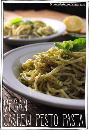 Vegan Cashew Pesto Pasta