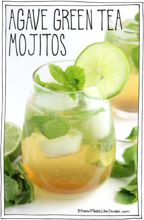 Agave Green Tea Mojitos
