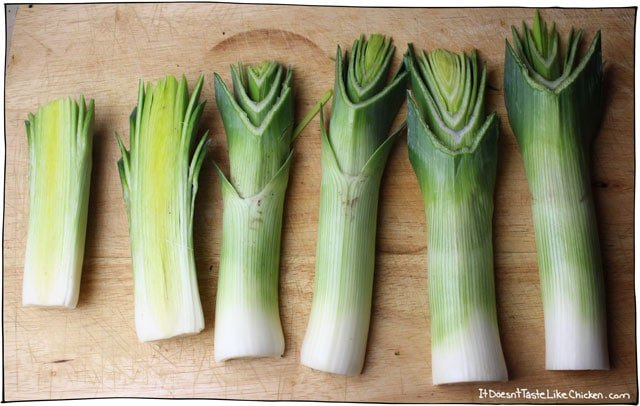 how to wash and cut leeks
