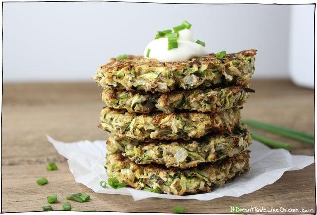 vegan-zucchini-fritters-baked