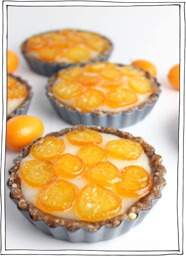 Kumquat and Coconut Cream Tarts