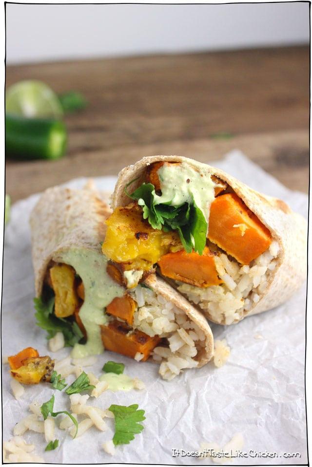 sweet-potato-and-plantain-burrito-roasted