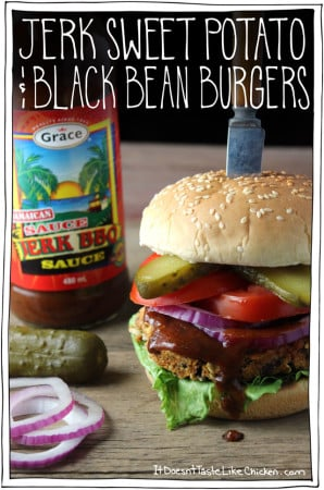 Jerk Sweet Potato & Black Bean Burgers