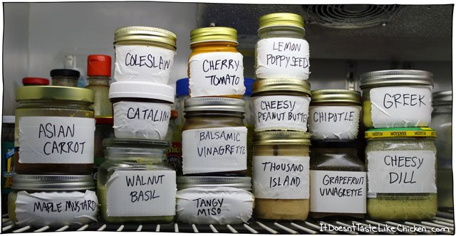 16 Vegan Salad Dressings - it doesn't taste like chicken