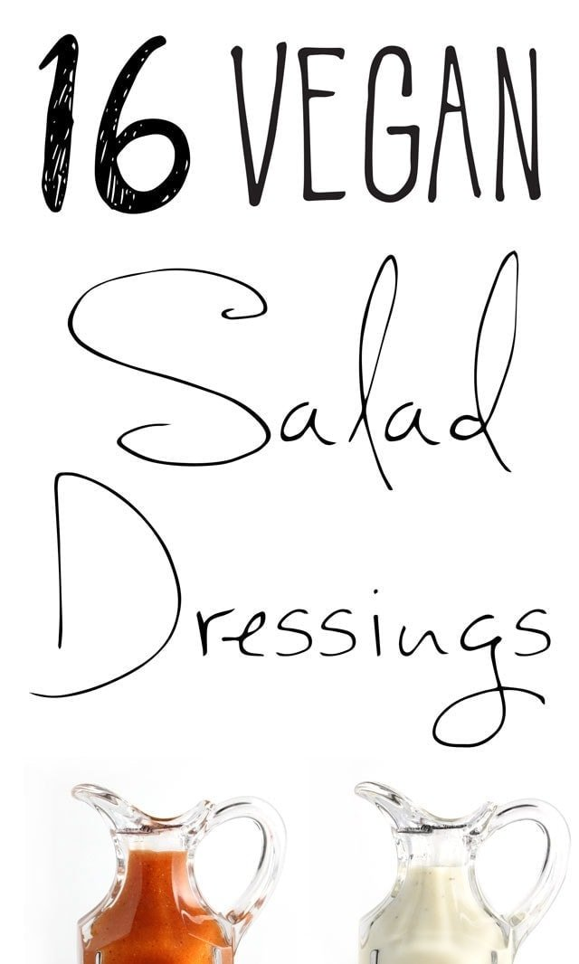16 Vegan Salad Dressings