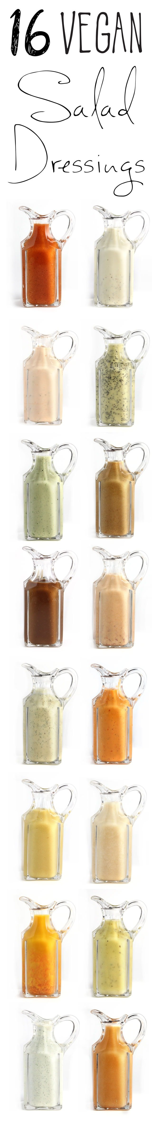 16 Vegan Salad Dressings! Some of the most popular vegan recipes of 2015!