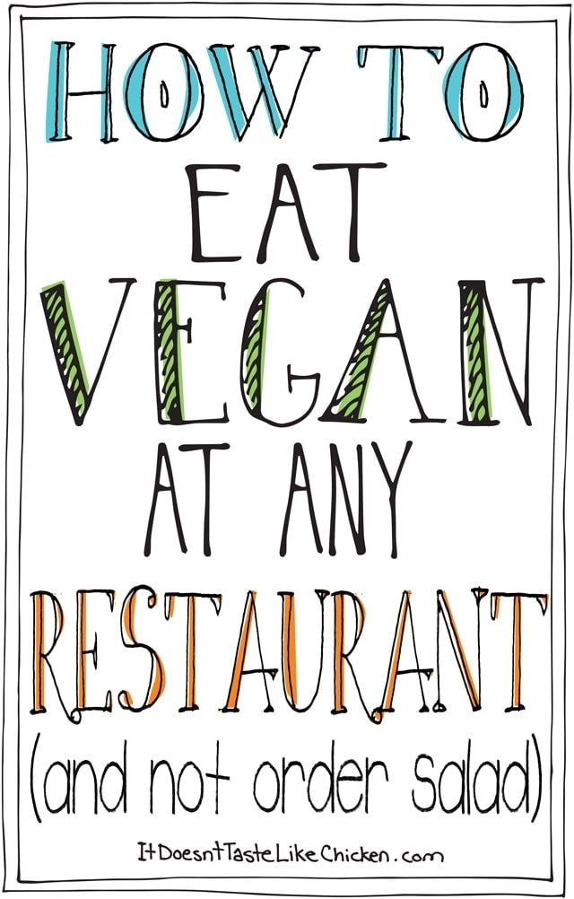 How to Eat Vegan at any Restaurant (and not order salad)! One of the most popular posts of 2015!