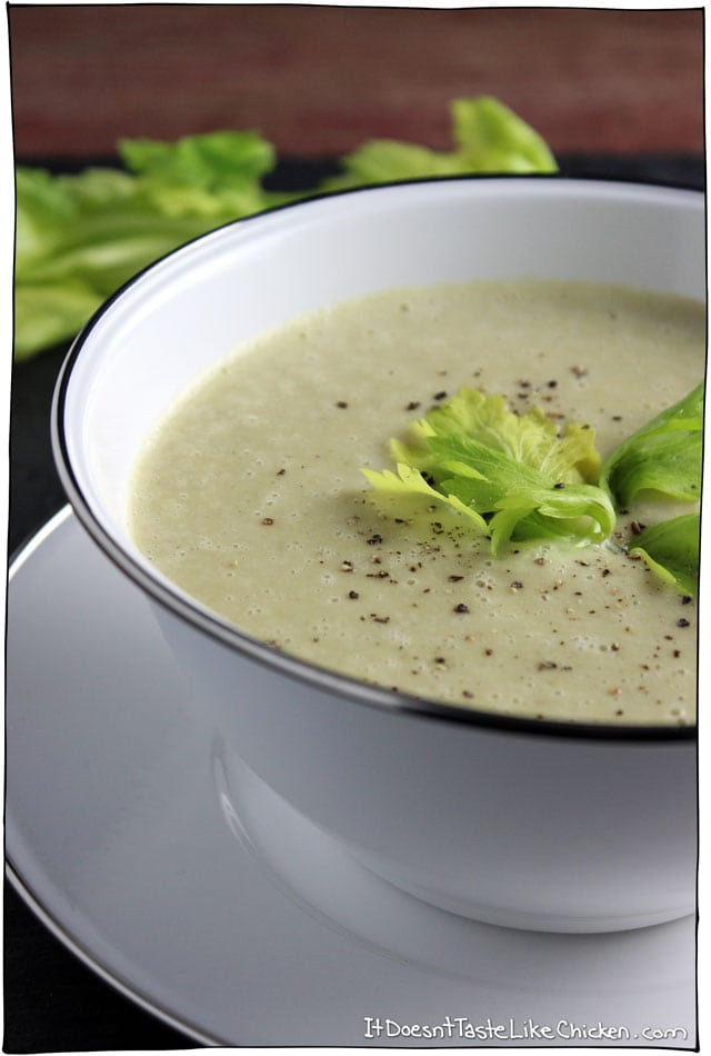Vegan Cream of Celery Soup - it doesn't taste like chicken