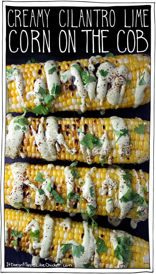 Creamy Cilantro Lime Corn on the Cob