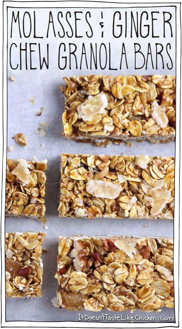 Molasses & Ginger Chew Granola Bars