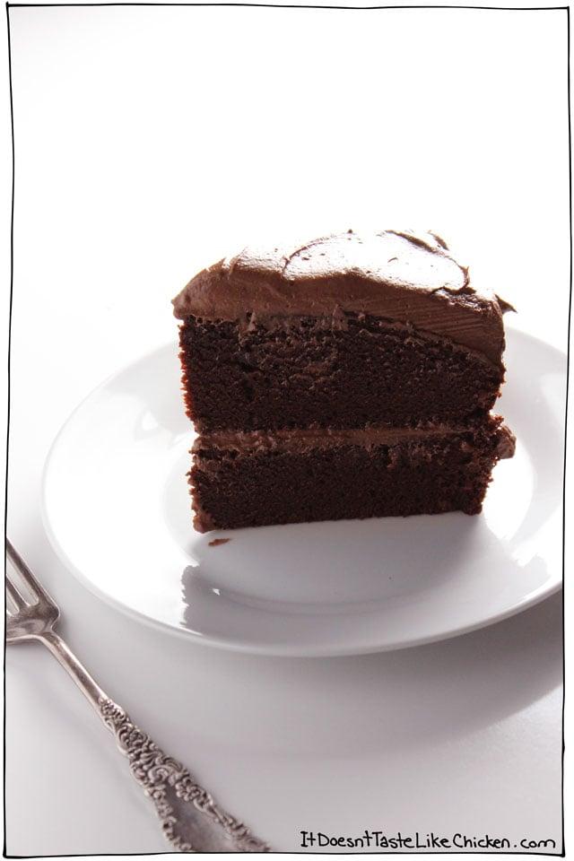 Stupendous The Ultimate Vegan Chocolate Cake Vegan Recipe Personalised Birthday Cards Arneslily Jamesorg