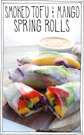 Smoked Tofu & Mango Spring Rolls