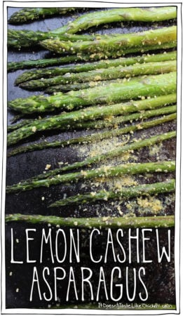 Lemon Cashew Asparagus + Video with Chef Michael Smith