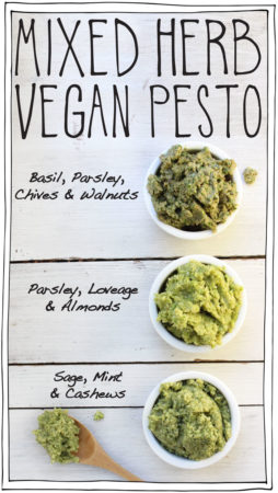 Mixed Herb Vegan Pesto – DIY Recipe