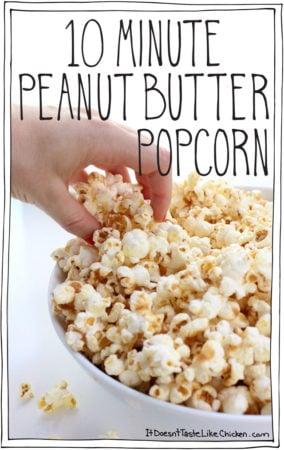 10 Minute Peanut Butter Popcorn