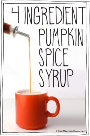 4 Ingredient Pumpkin Spice Syrup