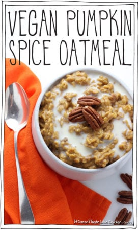 Vegan Pumpkin Spice Oatmeal