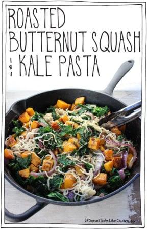 Butternut Squash & Kale Pasta
